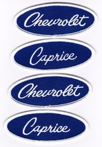Chevrolet Caprice Blue White Embroidered SEW/IRON On Patch Emblem Badge - $15.99