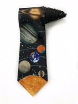 Ralph Marlin The Solar System Planets Outer Space Vintage Novelty Tie Ne... - $19.79