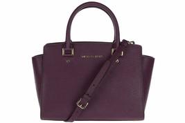 Michael Kors Selma Satchel Saffiano Leather (Damson) - $527.18