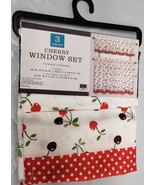 "3 pc Printed Kitchen Curtains Set: 2 Tiers (28""x36"")& Valance (56""x15"") ... - $19.79"