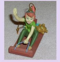 Peter Pan Toboggan ride Disney  Ornament Figurine original box - $45.00