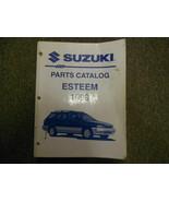 1998 Suzuki Esteem Parts Catalog Shop Manual FACTORY OEM BOOK 98 WORN STAINED - $21.11