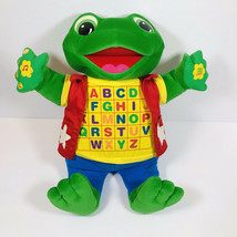 """Leapfrog Baby Tad Little Leap Read And Sing Interactive Frog 18"""" Plush VTG EUC - $23.33"""