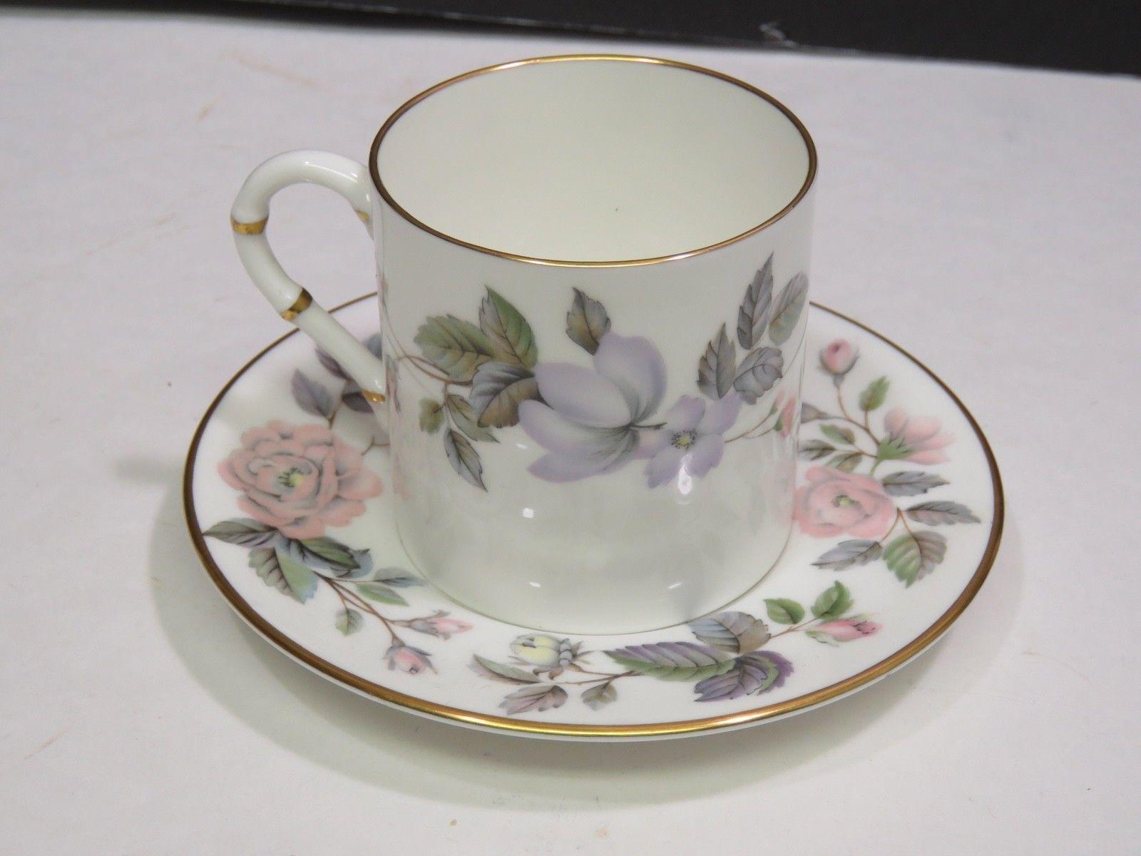 "Royal Worcester June Garland 2 3/8"" Flat Demitasse Cup & Saucer"