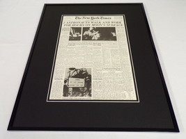 New York Times Nov 9 1932 Framed 16x20 Front Page Poster FDR Elected Pre... - $79.19