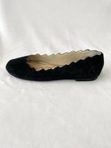 Sam Edelman Francis Scalloped Ballet Flats Black Suede size 6.5 - $31.65