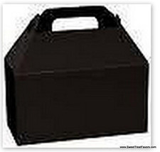 BLACK Party Supplies BOXES Birthday Decoration Fiesta GABLE Loots x12 Go... - $12.82