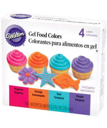 Neon Gel Food Coloring Set Wilton Purple Magenta Teal Orange - $5.38