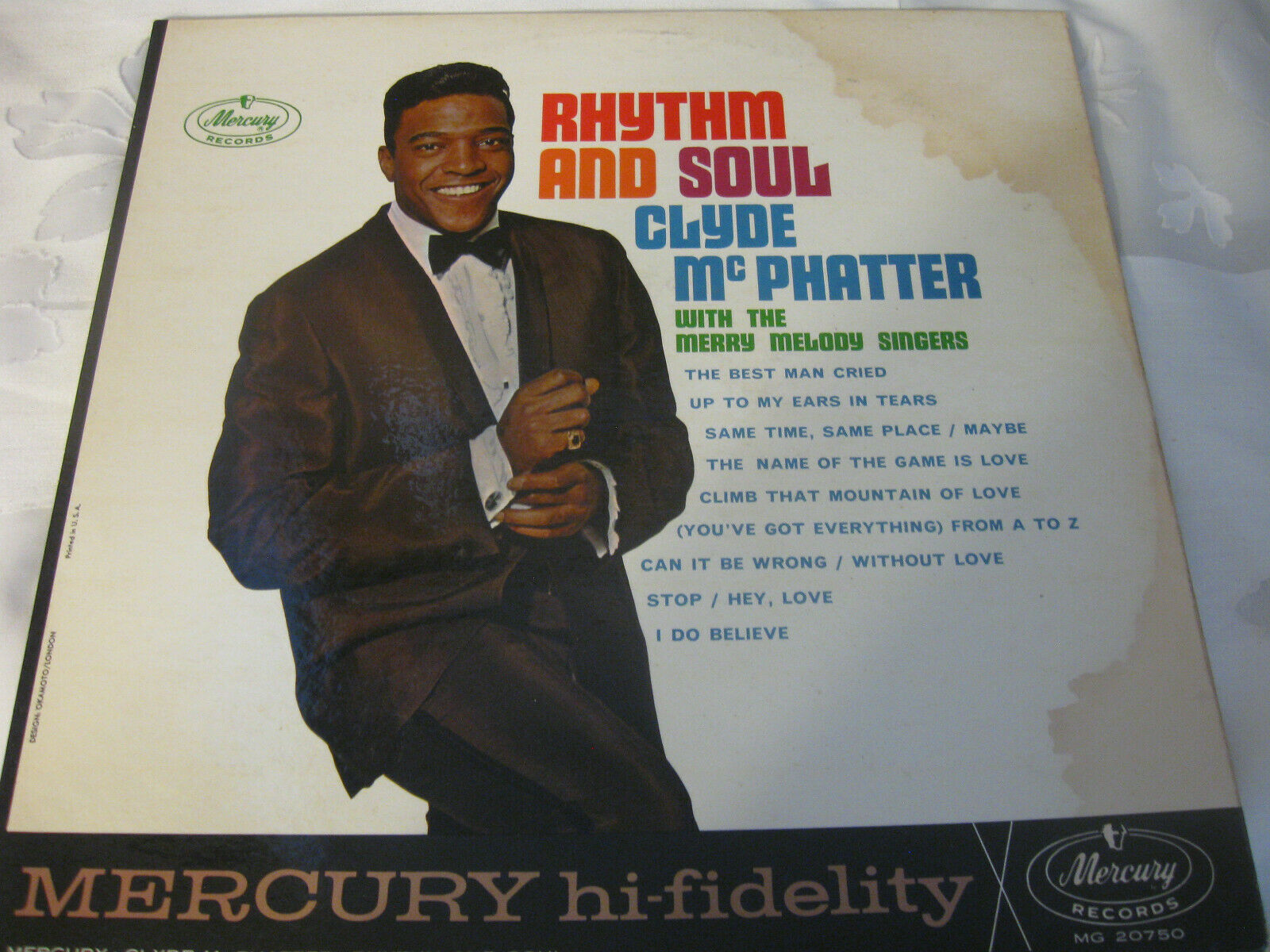 Clyde McPhatter Rhythm And Soul Mercury MG 20750 Mono LP Vinyl Record Album