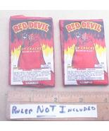 Red Devil Ladyfinger Firecracker LABELS Only 7/8 40s No UPC NM Unopened - $16.99