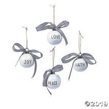 Faith, Peace, Joy & Love Ceramic Ornaments - $30.25