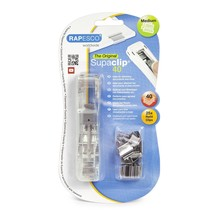 Rapesco Supaclip 40 See Through Dispenser with 25 Stainless Steel Refil ... - $20.59
