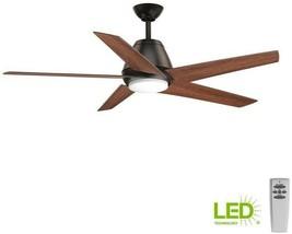 Lighted Ceiling Fan 54 in. 5-Blade 1-Light Reversible Motor Antique Bronze - $334.34