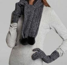 UGG Scarf Shearling Pom Poms Knit NEW - $74.25