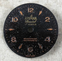 Vintage Josmar Special Dial Antimagnetic 17J FROM OLD STOCK NEW DIAL#16 - $9.18