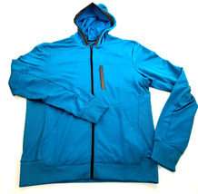 new ADIDAS men jacket full zip hoody 117739182 climalite blue L MSRP $100 - $45.99