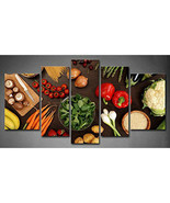 Pasta Spaghetti Spices Vegetable Food 5 pieces Canvas Wall Poster Home D... - $17.33 CAD+