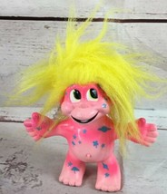 "1992 Vintage Trendmaster Treasure Trolls  5"" Talking Doll, Pink/yellow, ... - $19.70"