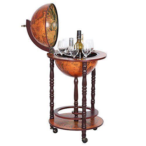 Old Italian Style Globe Map Mini Bar Wine and 50 similar items