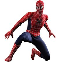 Spiderman 3 Hot Toys Movie Masterpiece 1/6 Scale Collectible Figure Spid... - $490.05