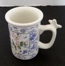 Hallmark Coffee Cup Mug Butterfly Handle Purple Flowers Houston Harvest  - $12.75