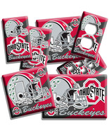 OHIO STATE BUCKEYES UNIVERSITY FOOTBALL TEAM LIGHT SWITCH OUTLET ROOM HOME DECOR - $9.89 - $19.79