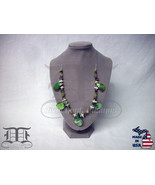 Amethyst Green Aventurine Iridescent Shell Necklace - Made In U.S.A. - $24.98