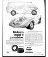 Vintage MICKEY THOMPSON TIRES 1973 Advertisement +FREE Ad! - $11.83