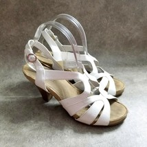 "Aerosoles Womens  52094 Size 10 White  Leather Strappy Slingback 4"" Heel... - $19.99"