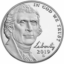"""100 -2019 """"S""""  Jefferson Nickel, Gem Proof FROM THE SILVER SET - $150.00"""