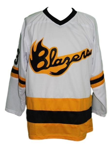 Syracuse blazers retro hockey jersey white   1