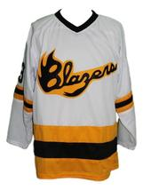 Custom Name # Syracuse Blazers Retro Hockey Jersey New White Any Size image 1