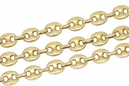"""Italian 14K Yellow Gold 10mm Puffed Hollow Gucci Link Chain 25.00"""" Neckl... - $2,199.99"""