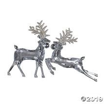 """Vickerman 6"""" Clear Deer/Gold Glitter Ornament - 6/Box - $25.25"""