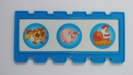 Fisher Price Barnyard Bingo game replacement fence board card blue USED - $2.96