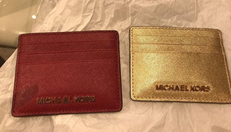 bd8ec2a3b3f1 Michael Kors Jet Set Travel LG Card Holder-GOLD-NWT- RED OR GOLD