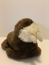 "Dakin Plush Walrus Brown Stuffed Animal Vintage 1980 9"" Marine Sea Animal Toy - $13.85"