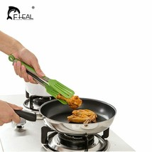 FHEAL® Non-stick Kitchen Tongs Stainless Steel+ Nylon Barbecue Tongs Ant... - €7,05 EUR