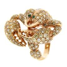 Brand New GLK 18K ROSE GOLD 3.30CT DIAMOND SCORPION RING SIZE 7 - £2,886.28 GBP