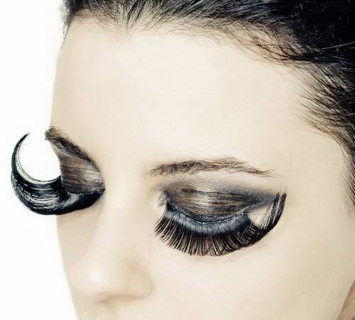Stage Party False Eyelashes Exaggerated Fake Eyelashes BLACK 5 Pairs