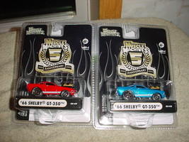 Muscle Machines '66 Shelby GT-350 05-09 Red & 05-03 Blue Free Usa Shipping - $23.36
