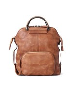 Sale, Vintage Leather Backpack, Handmade Messenger Bag, Shoulder Bag - $165.00
