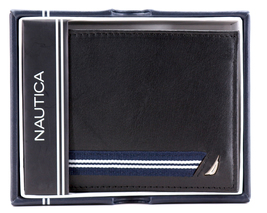 Nautica Men's Genuine Leather Credit Card ID Double Billfold Passcase Wallet image 11