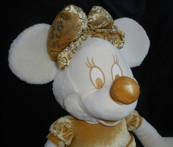 "28"" BIG DISNEY STORE GOLD & CREAM MINNIE MOUSE STUFFED ANIMAL PLUSH TOY DOLL image 2"