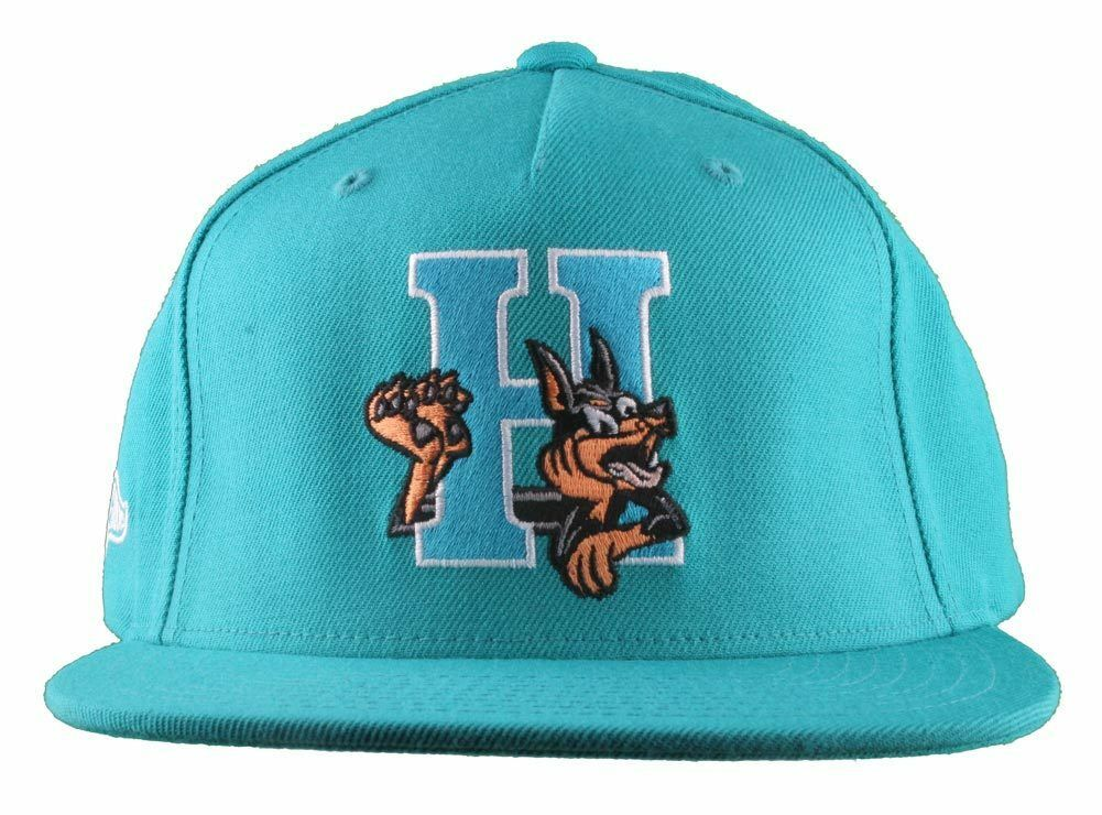 Hall Of Fame H Hound Wool Blend Embroidered Turquoise Snapback Baseball Hat Cap