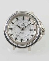 Adidas Mens Date White Stainless Silver Steel Parts. For Repairs Only - $23.91