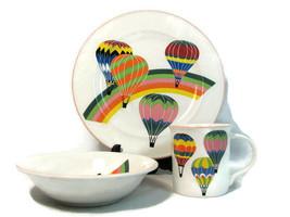 3 Piece Set Mikasa Up Up & Away Plate Bowl Mug Aviator Child Place Setting  - $24.74