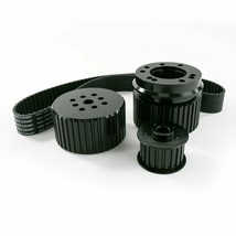 Ford BB Big Block 429-460 Gilmer Style Pulley Kit (BLACK)