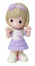 Grandma Loves Me Precious Moments Figurine Girl Lavender Skirt Pink Shoe... - $37.61