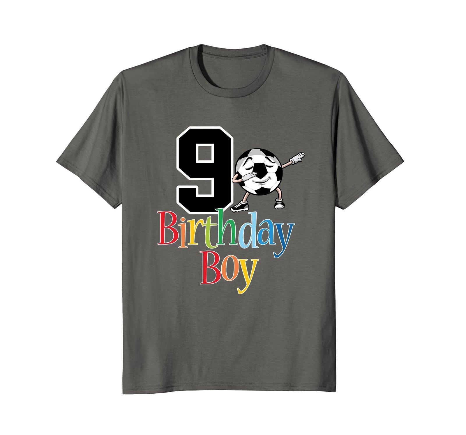 9th Birthday Soccer Shirt - 9 Dabbing Ball Boys Tees